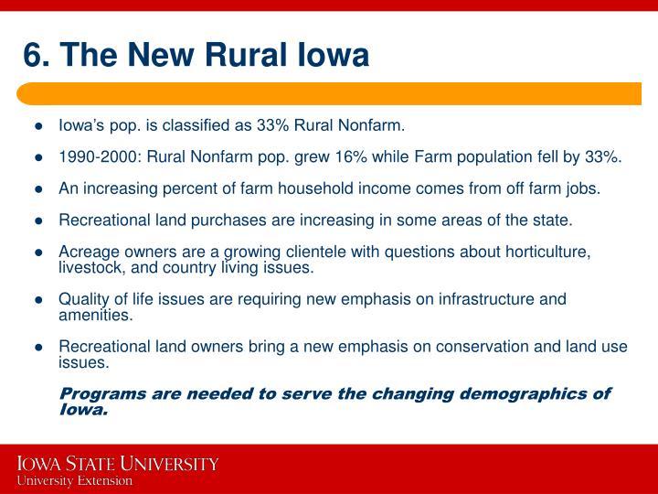 6. The New Rural Iowa