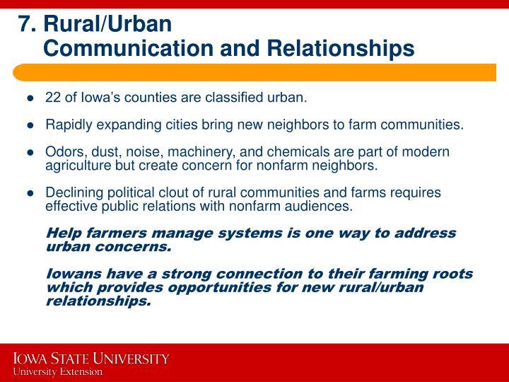 7. Rural/Urban