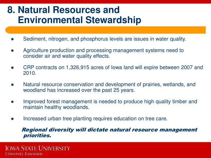 8. Natural Resources and