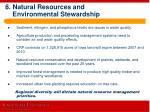 8 natural resources and environmental stewardship