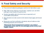 9 food safety and security