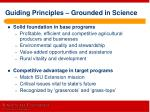 guiding principles grounded in science