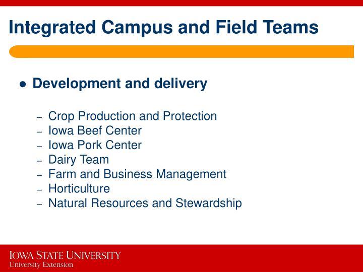 Integrated Campus and Field Teams