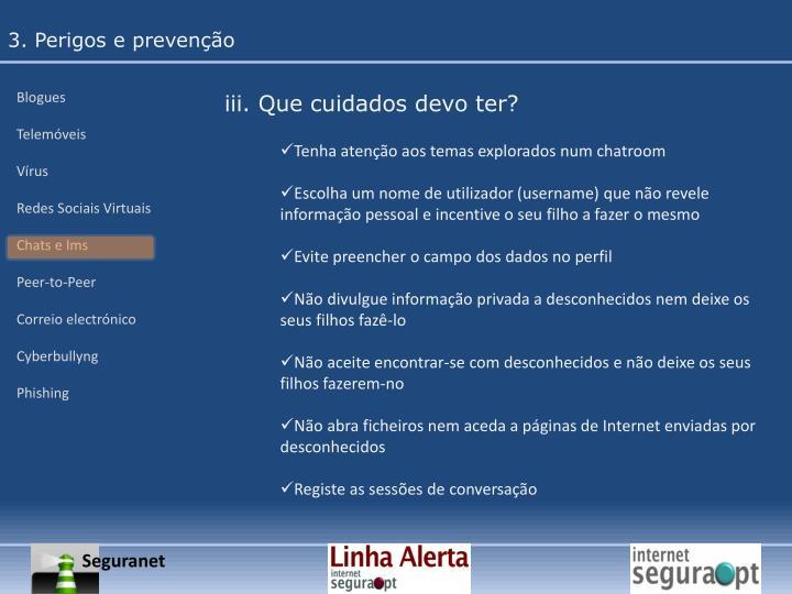 3. Perigos e prevenção