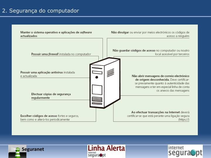 2. Segurança do computador