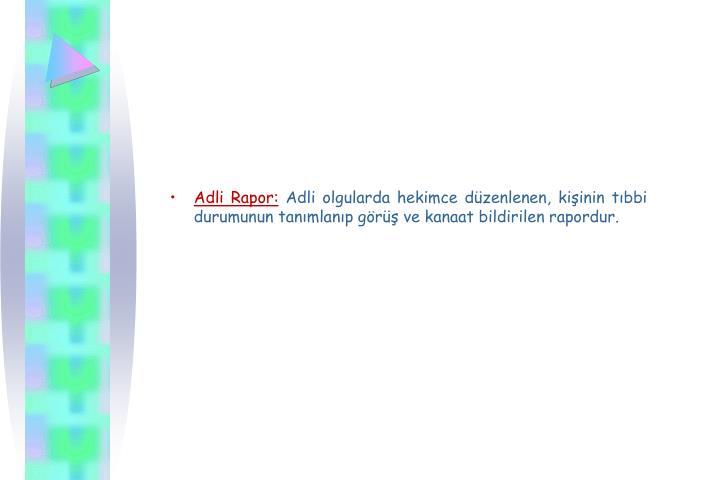 Adli Rapor:
