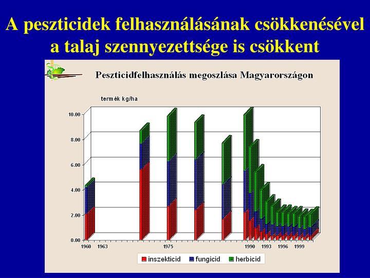 A peszticidek felhasználásának csökkenésével a talaj szennyezettsége is csökkent