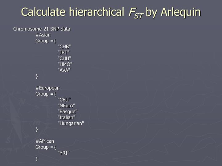 Calculate hierarchical