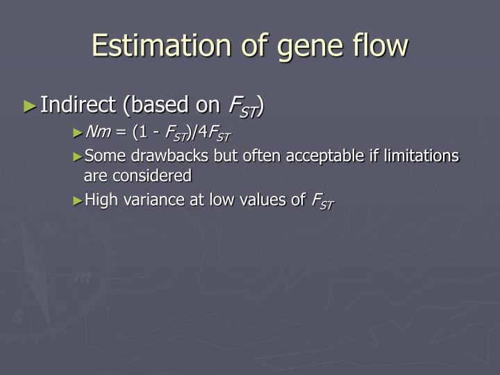 Estimation of gene flow