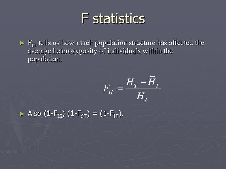 F statistics