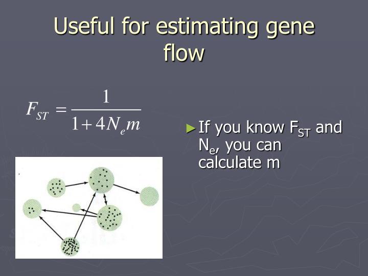 Useful for estimating gene flow