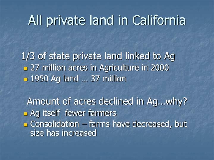 All private land in California