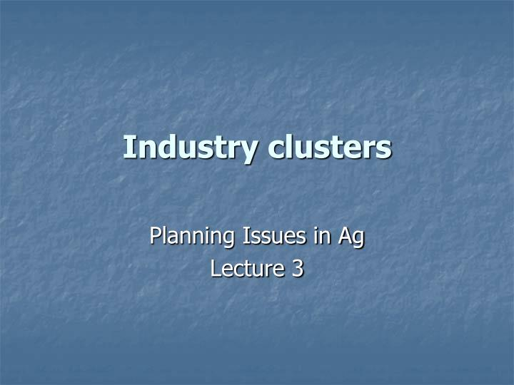 Industry clusters