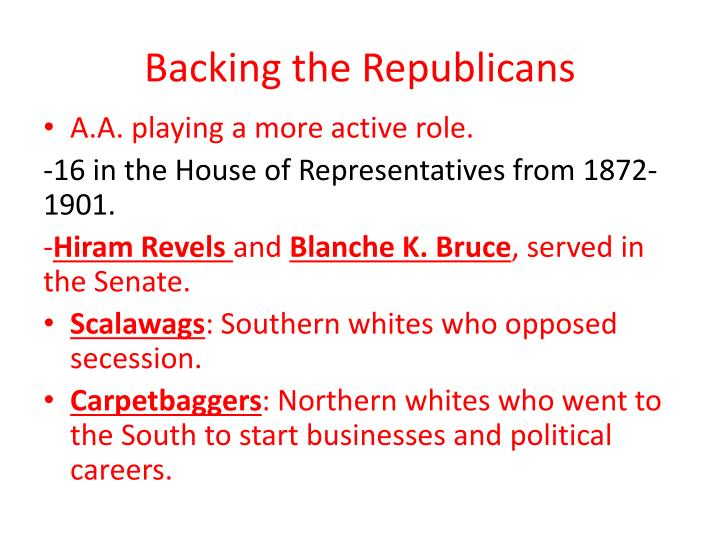 Backing the Republicans