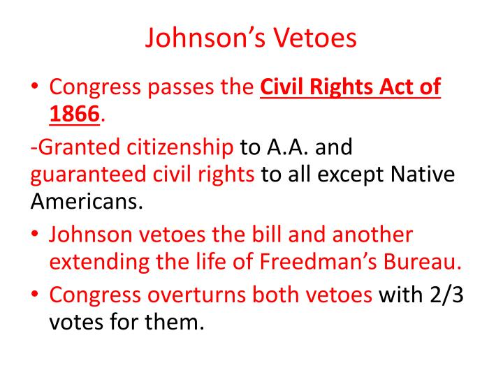Johnson's Vetoes