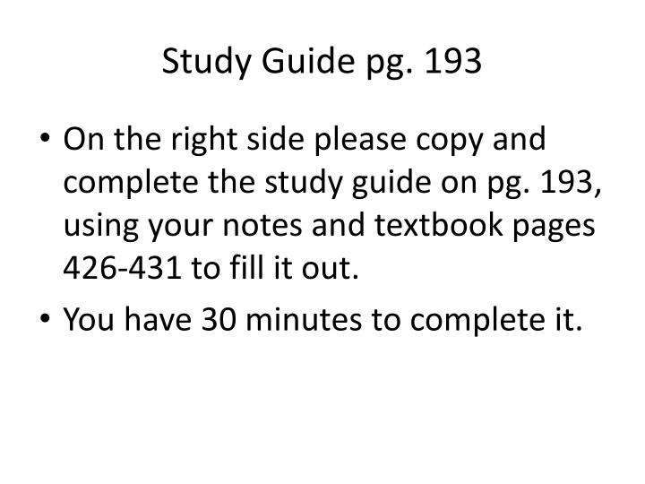 Study Guide pg. 193