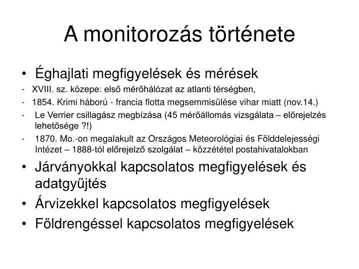 A monitorozás története