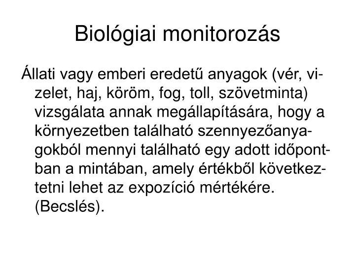 Biológiai monitorozás