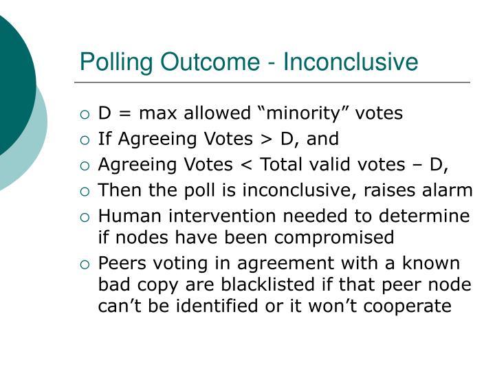 Polling Outcome - Inconclusive