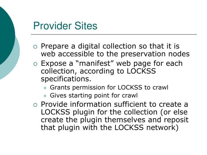 Provider Sites