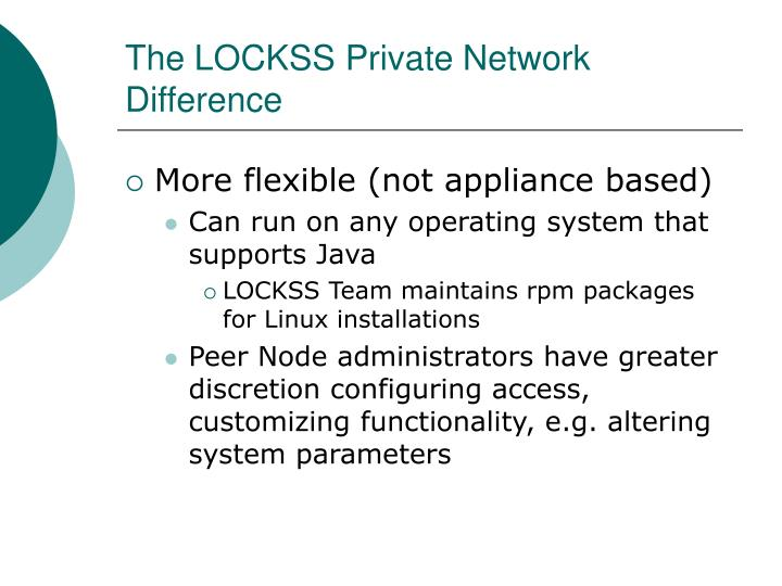 The LOCKSS Private Network Difference