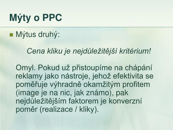 Mýty o PPC