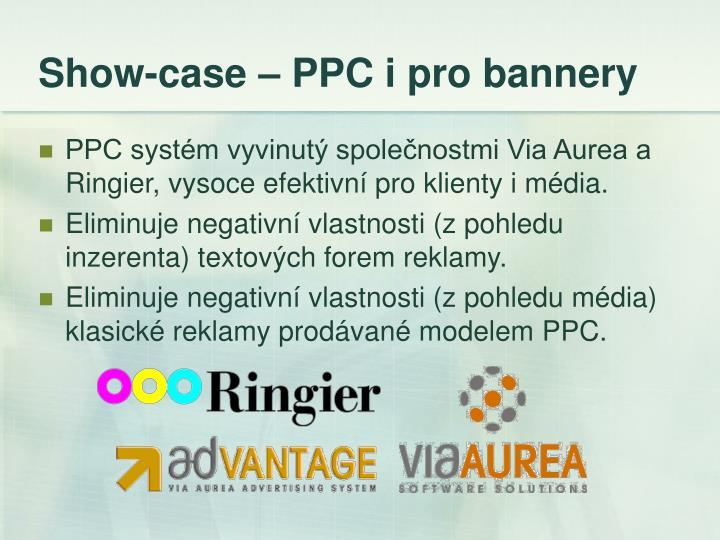 Show-case – PPC i pro bannery
