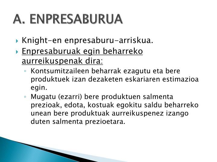 A. ENPRESABURUA