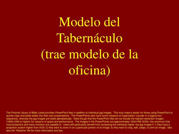 Modelo del Tabernáculo