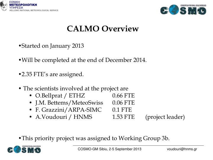 CALMO Overview