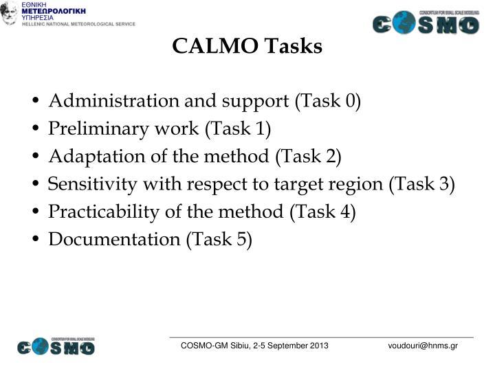 CALMO Tasks