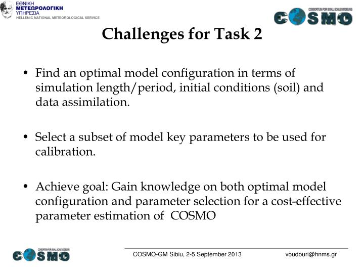 Challenges for Task 2