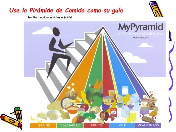 Use la Pirámide de Comida como su guía