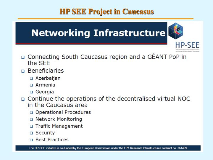 HP SEE Project in Caucasus