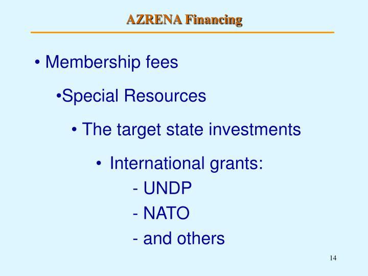 AZRENA Financing