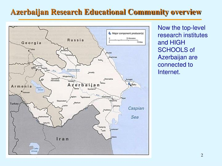 Azerbaijan Research Educational Community overview