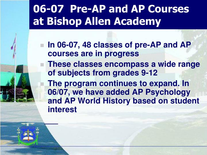 06-07  Pre-AP and AP Courses