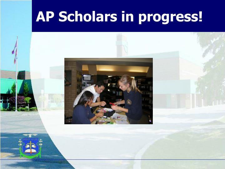 AP Scholars in progress!
