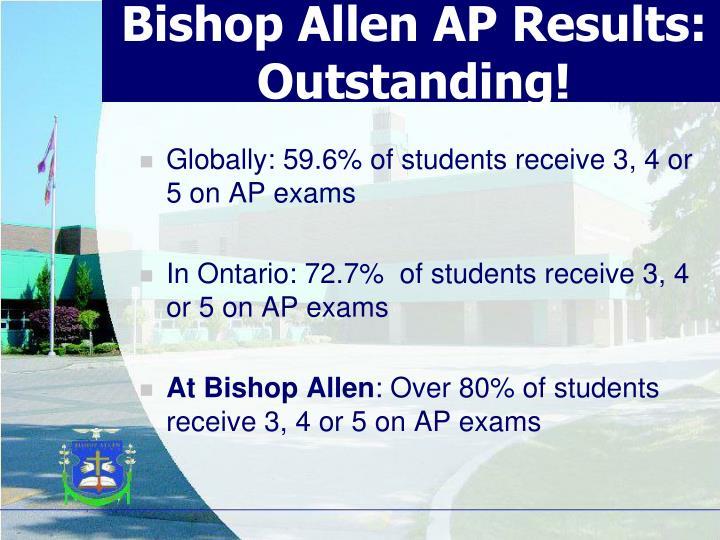 Bishop Allen AP Results:       Outstanding!