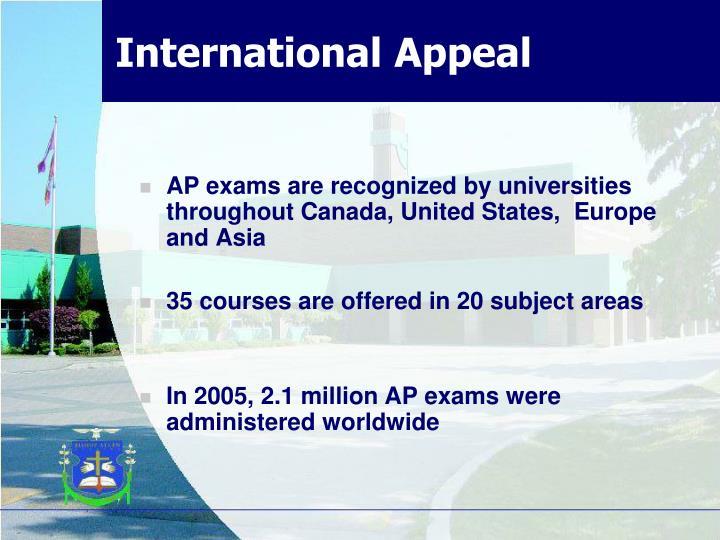 International Appeal