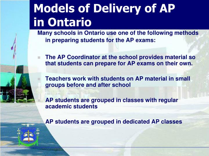 Models of Delivery of AP