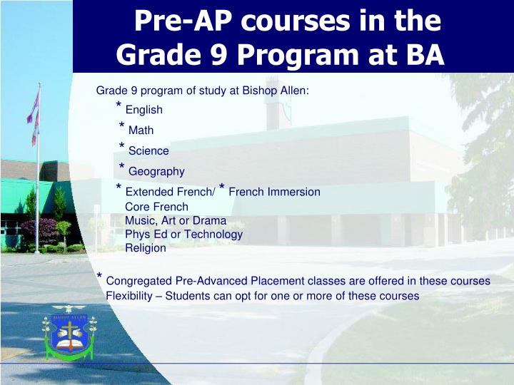 Pre-AP courses in the