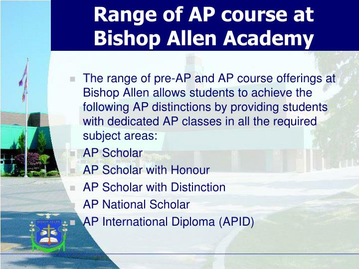 Range of AP course at