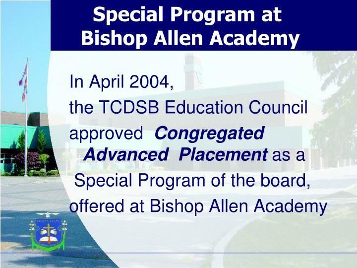 Special Program at