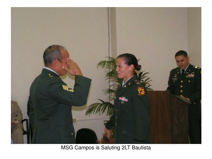 MSG Campos is Saluting 2LT Bautista