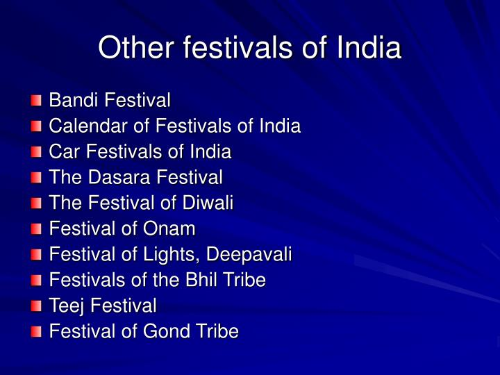 Other festivals of India