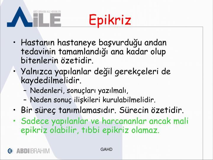 Epikriz