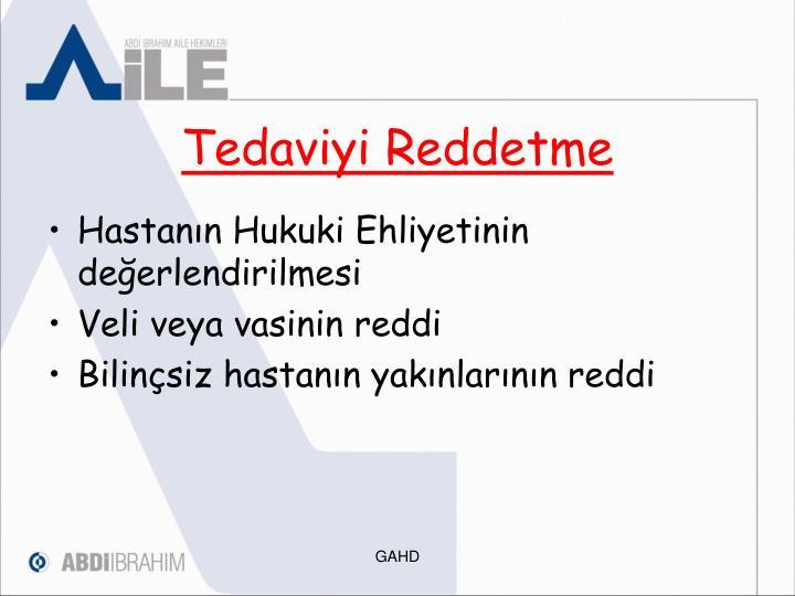 Tedaviyi Reddetme