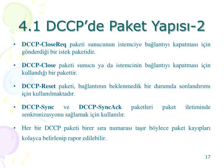 4.1 DCCP'de Paket Yapısı-2