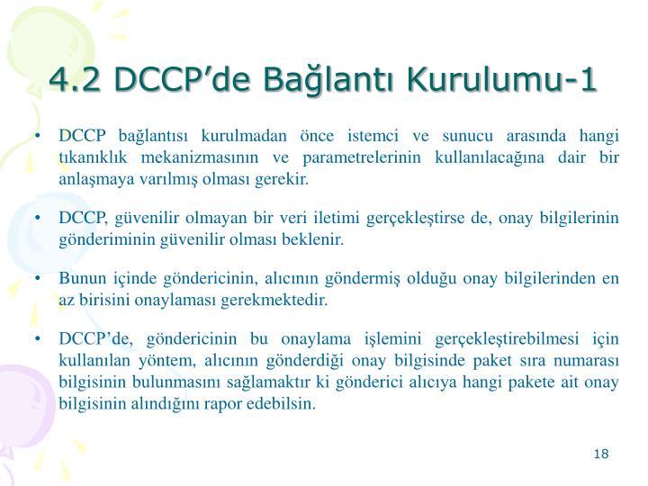 4.2 DCCPde Balant Kurulumu-1